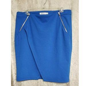 JustFab Pencil Wrap-around Skirt